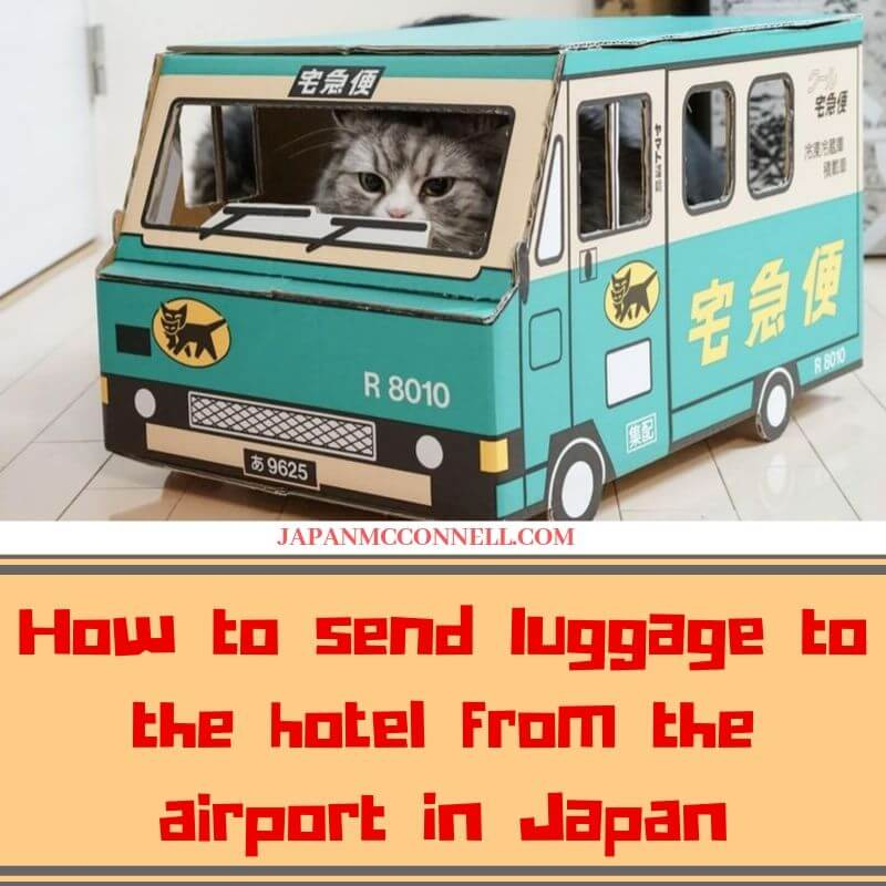 How to send luggage to the hotel from the airport in Japan