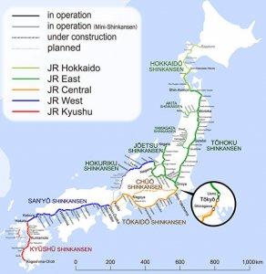 Shinkansen map wiki