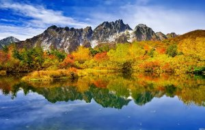 tsurugi mountain, fall colors, national park, Japan