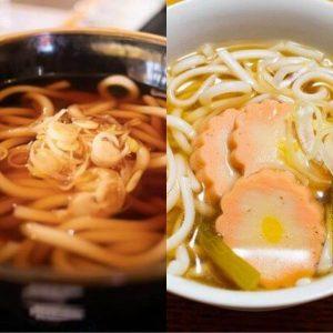 Kantou VS Kansai Udon, Japanese food
