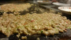 Monjayaki, Tsukishima, Tokyo, the origin of Okonomiyaki, Japanese food