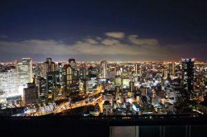 Umeda sky building, Observatory, Osaka View, night View, Umeda, Osaka, Japan