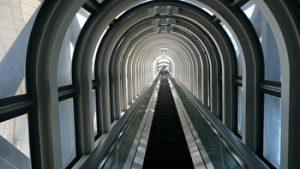 Umeda sky building, the escalator, the observatory, Umeda, Osaka