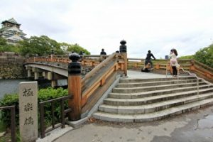 gokuraku bidge, gokuraku bashi, heaven bridge, osaka castle