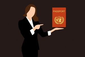 showing passport