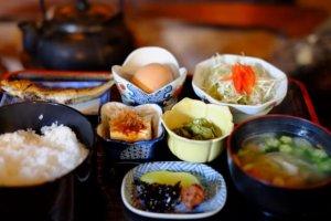 breakfast Japanese-style Ryokan
