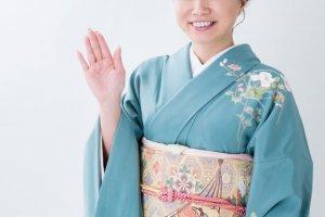 casual bow smile kimono