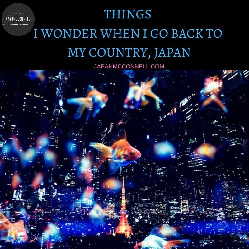 Things I wonder when I go back to my country, Japan