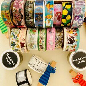my washi tape collection, 100 yen shop