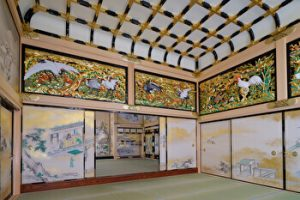 Honmsrugoten, Nagoya castle palace, paintings, Nagoya, Japan