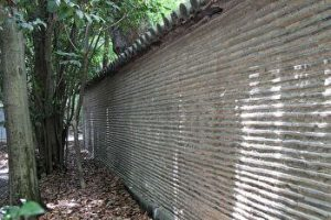 Nobunagabei, the wall made by Nobunaga Oda, Japanese Samurai commander, Atsuta Shrine, Nagoya, Japan