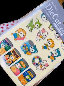 retro, stickers, animals, retro, 100 yen shop, japan