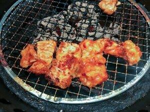 tonchan, pork innard, shichirin grill