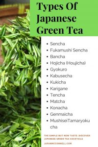 The types of Japanese green tea