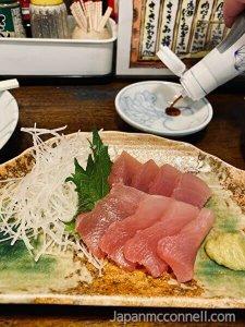 fresh tuna sashimi, fushicho, nagoya