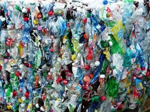plastic bottles, waste