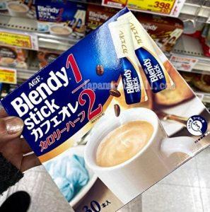 blendy, cafe au lait, half calorie, Japanese drink mix