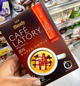 cafe latory, blendy stick, caramel latte makiart, drink mix, Japan