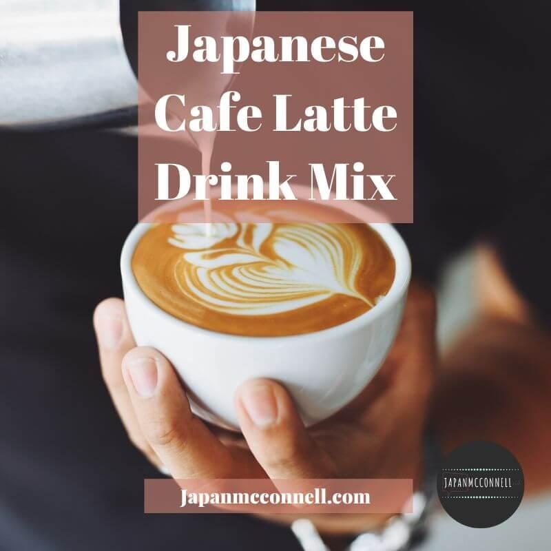 the unique cafe latte drink mix in japan