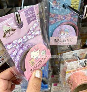 washi tape, sanrio, 100 yen shop