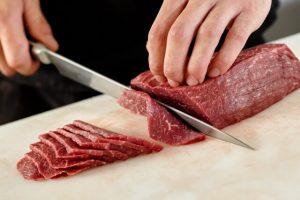 cut beef, thin slice across grains