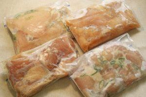 arinade chicken and shio koji and freeze them