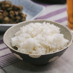 the bowl of rice