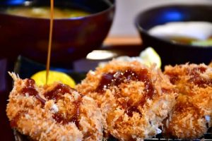 tonkatsu, Japanese pork cutlet, panko deep fried pork, Japanese style worcester sauce, Tonkatsu sauuse