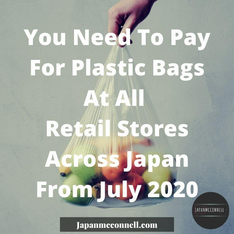 you need to pay for plastic bags in Japan