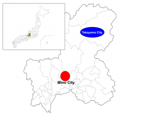 Gifu prefecture, Mino city, Map