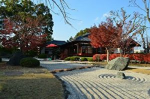 Konoe House, Kuge House, Beautiful Japanese garden, rock garden, Nishio, Aichi, Japan