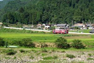 Nagaragawa Tetsudo Line, Gifu, Japan