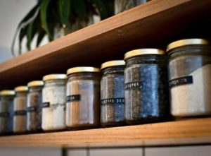 pantry, jars, how to store green tea