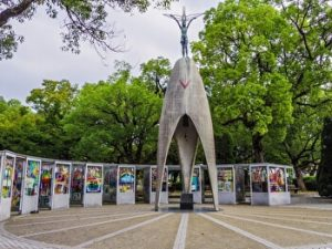 Children's peace monument, Hiroshima peace park, Hiroshima, Japan, Sadako Sasaki, the statue