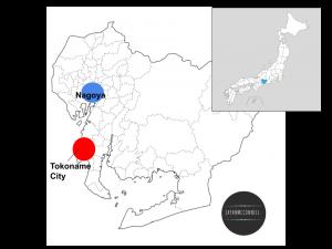 Tokoname city, Aichi, Japan, Map