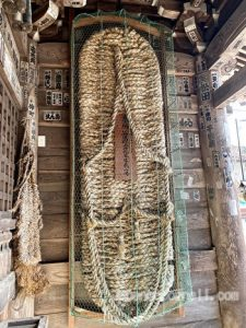 the big straw sandal in the Niou gate, Tanigumisan, Kegonji, Gifu, Japan