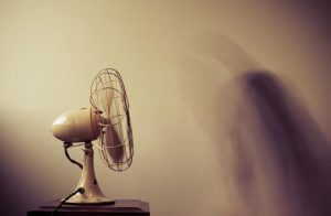 a fan, in a room
