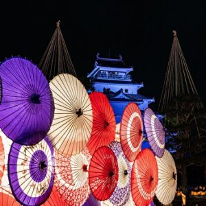 Aizu Decorative Candle Festival, Aizu, Fukushima, Japan, Winter