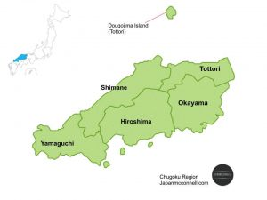 Chugoku Region, Japan, Map