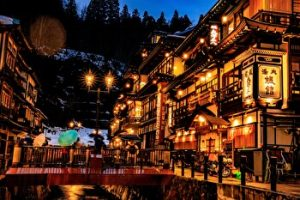 Ginzan Onsen, Hotsprings, Yamagata, Japan, winter