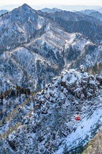 Gozaisyo Ropeway, Mie, Winter, Japan