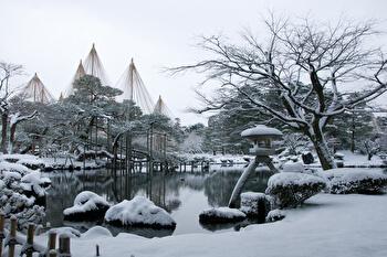 Kenroku-en, Kanazawa, Japanese garden, Winter, Ishikawa, Japan