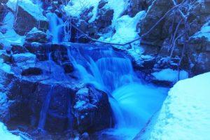Oirase Gorge, Aomori, winter, waterfall