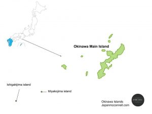 Okinawa Islands, Map, Japan