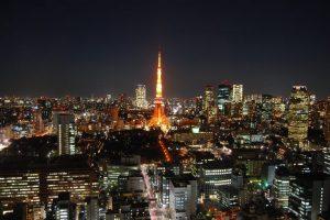 Tokyo tower, night view, Tokyo, Japan