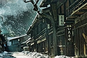 Tsumago juku, Nagano, Winter, old town, historical town, Japan