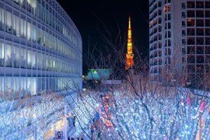 Keyakizaka Illuminations, Tokyo tower, winter illuminations, Roppongi, Tokyo, Japan