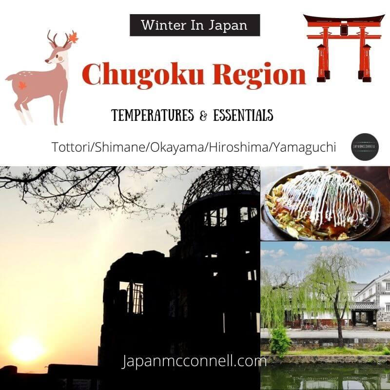 Chugoku region in winter