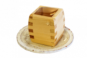 guinomi cup, Japanese sake cup, Hinoki,