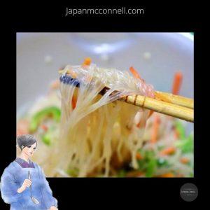 Japanese harusame noodle salad